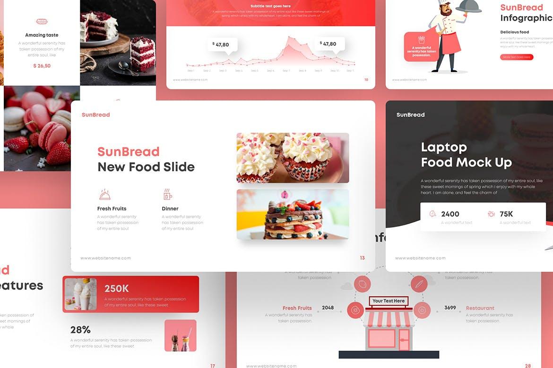 超实用面包食物创意ppt模板designshidai_ppt0176