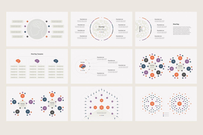 专业商务PPT思维脑图模板合集下载designshidai_ppt0207