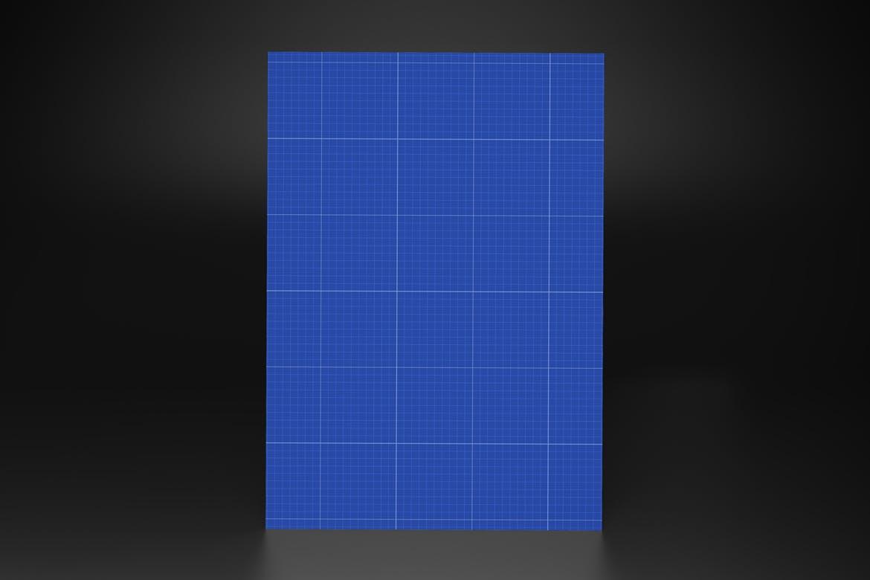 经典深色背景下的海报设计样机designshidai_yj864