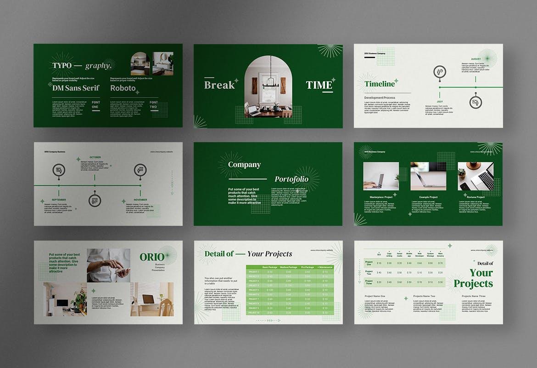 专业高端公司创意项目演示介绍幻灯片PPT模板designshidai_ppt0208