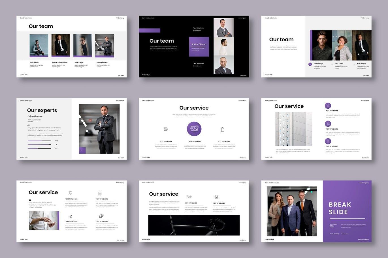 专业的高品质时尚高端商业商务powerpoint幻灯片演示模板designshidai_ppt0202