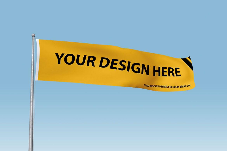 悬挂的旗帜展示模型designshidai_yj849