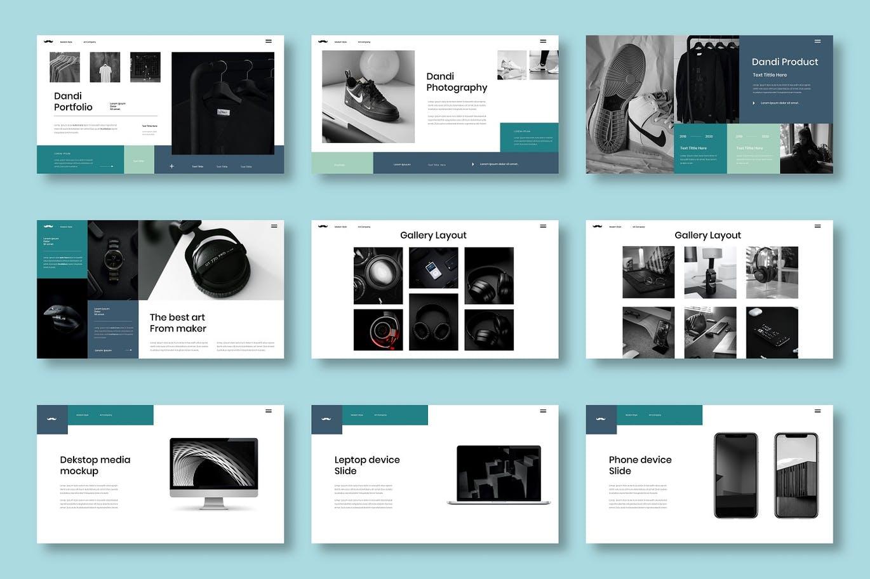 高雅的专业多用途商业服务公司介绍PPT模板designshidai_ppt0186
