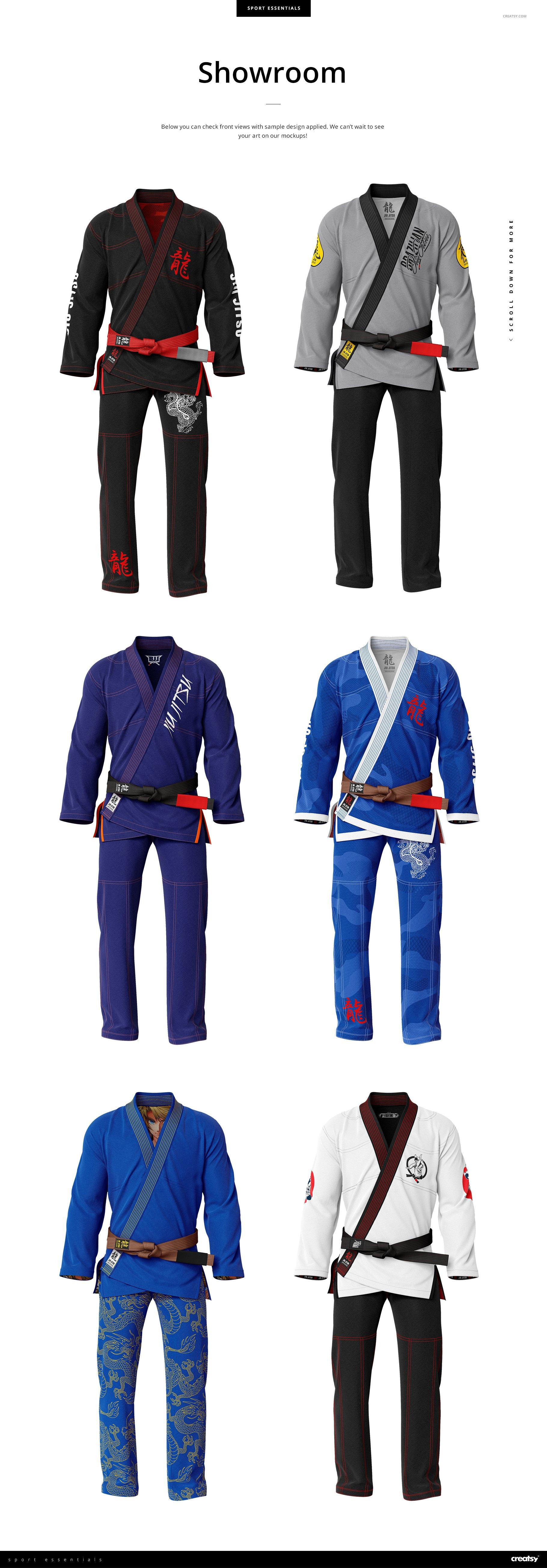 巴西柔术专用服装武功武术服装设计样机模板designshidai_yj870