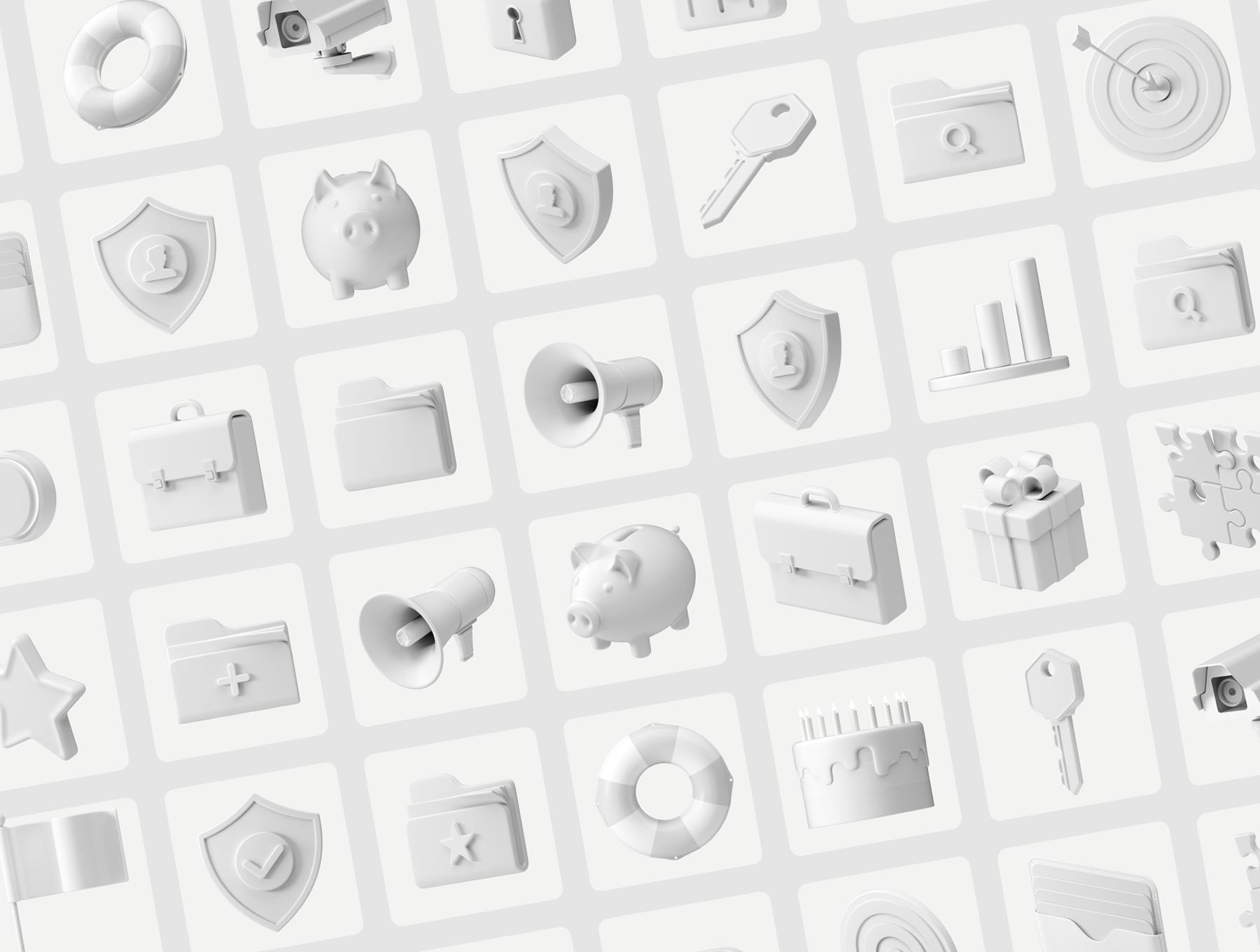 C4D打造的UI多用途3D图标合集下载designshidai_C4D14