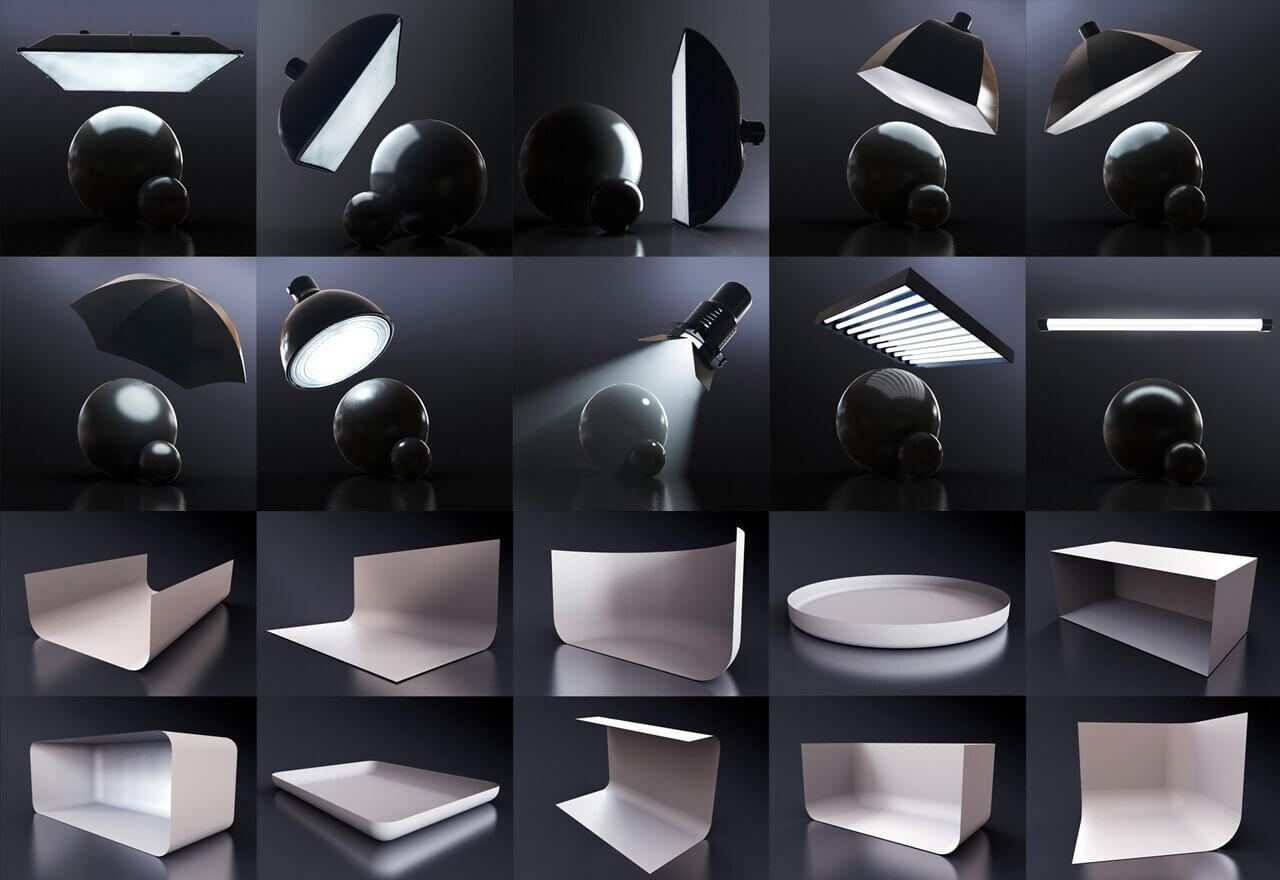 用於 C4D 的 Redshift Light Suite 燈光預設designshidai_C