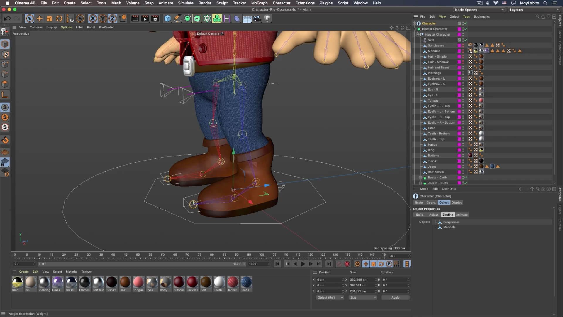 C4D 3D角色索具动画制作教程-英文版designshidai_C4D13