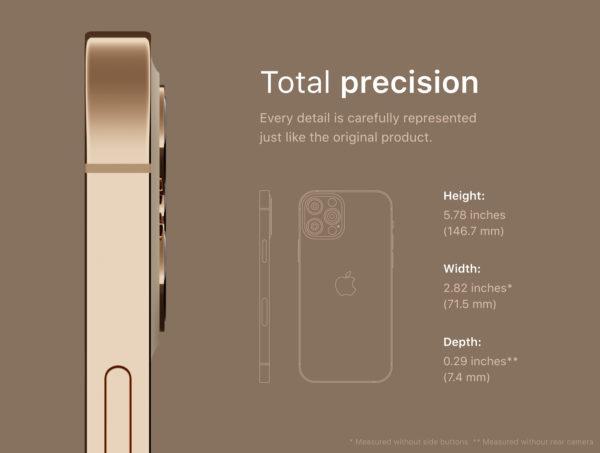 iPhone 12 PRO 金色版3D模型下载designshidai_C4D05