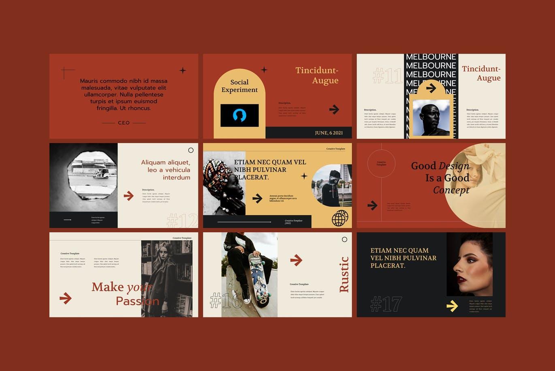 时尚的个人写真集展示高品质商业演讲powerpoint幻灯片演示模板(pptx)designshidai_ppt0212