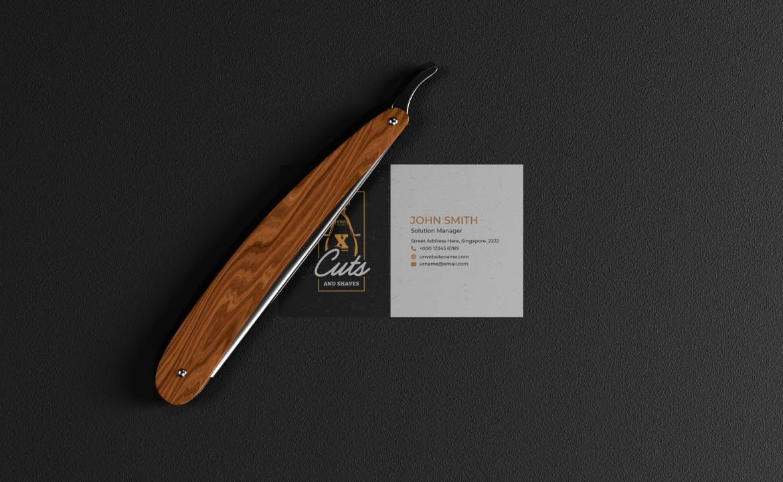 理发师品牌设计美发剪刀工具样机 (PSD) designshidai_yj873