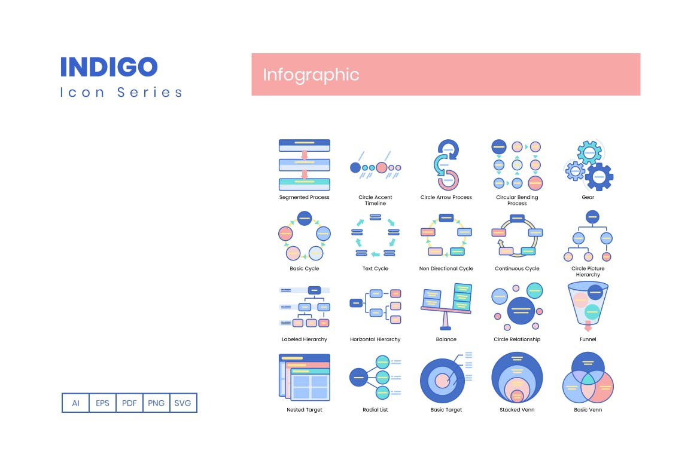 企业数据分析饼图矩阵图大数据展示信息图表图标icon集合系列designshidai_ui368
